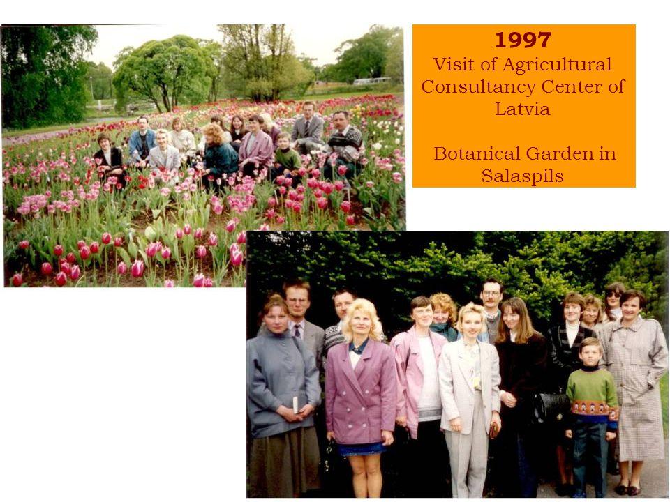 1997 Visit of Agricultural Consultancy Center of Latvia Botanical Garden in Salaspils
