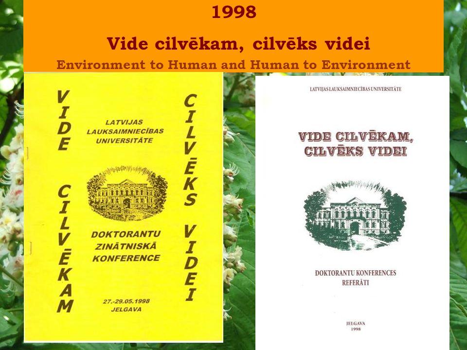 1998 Vide cilvēkam, cilvēks videi Environment to Human and Human to Environment