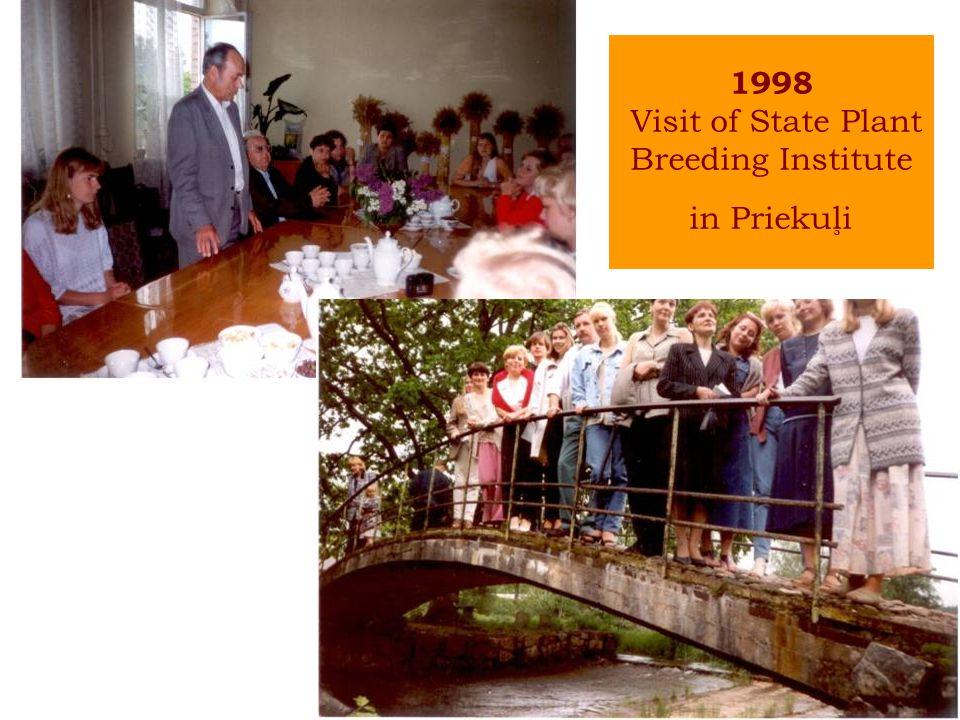 1998 Visit of State Plant Breeding Institute in Priekuļi