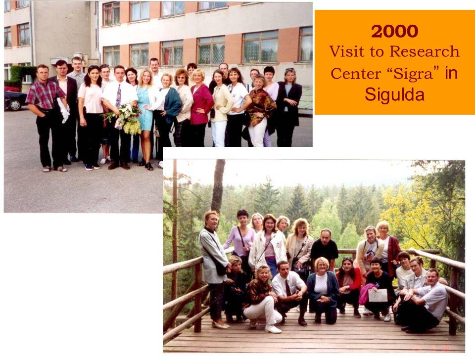 2000 Visit to Research Center Sigra in Sigulda