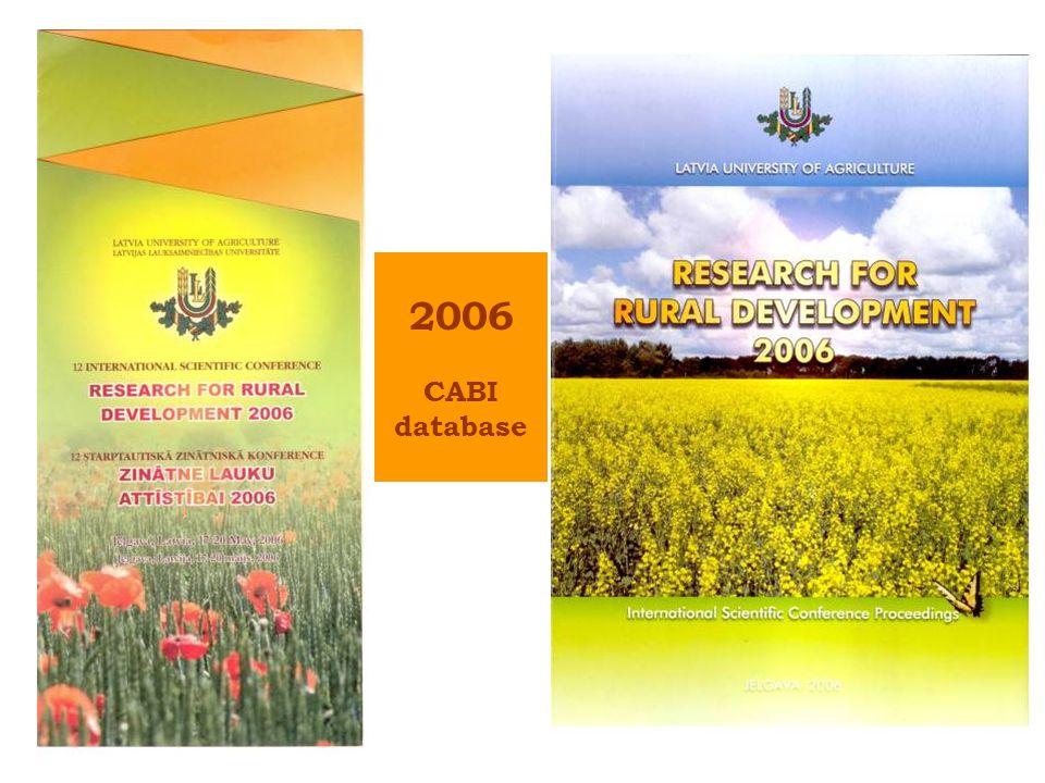 2006 CABI database