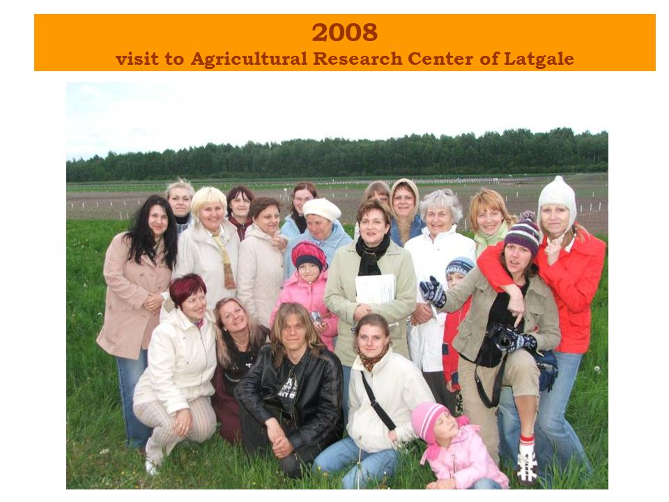 2008 visit to Agricultural Research Center of Latgale