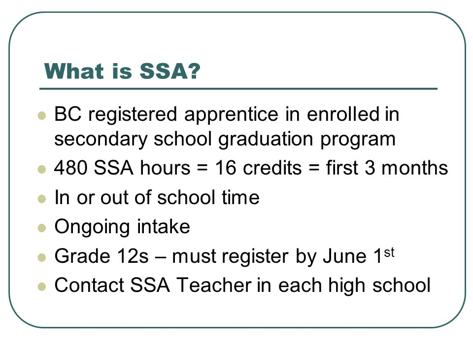 What is SSA.