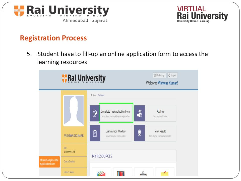 Registration Process 5.
