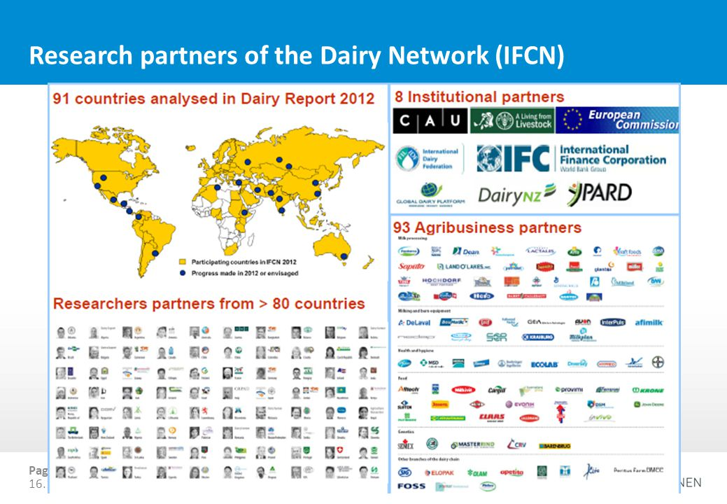 Ernesto Reyes Research partners of the Dairy Network (IFCN) Page 14 16.10.2013The Agenda MSP, Ottawa