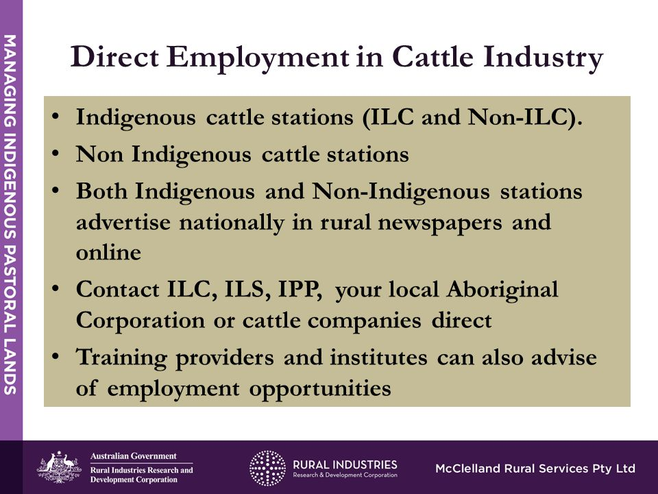 Indigenous cattle stations (ILC and Non-ILC).