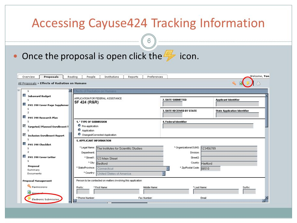 Conclusion 17 This concludes the Cayuse424 Submit Training Module.