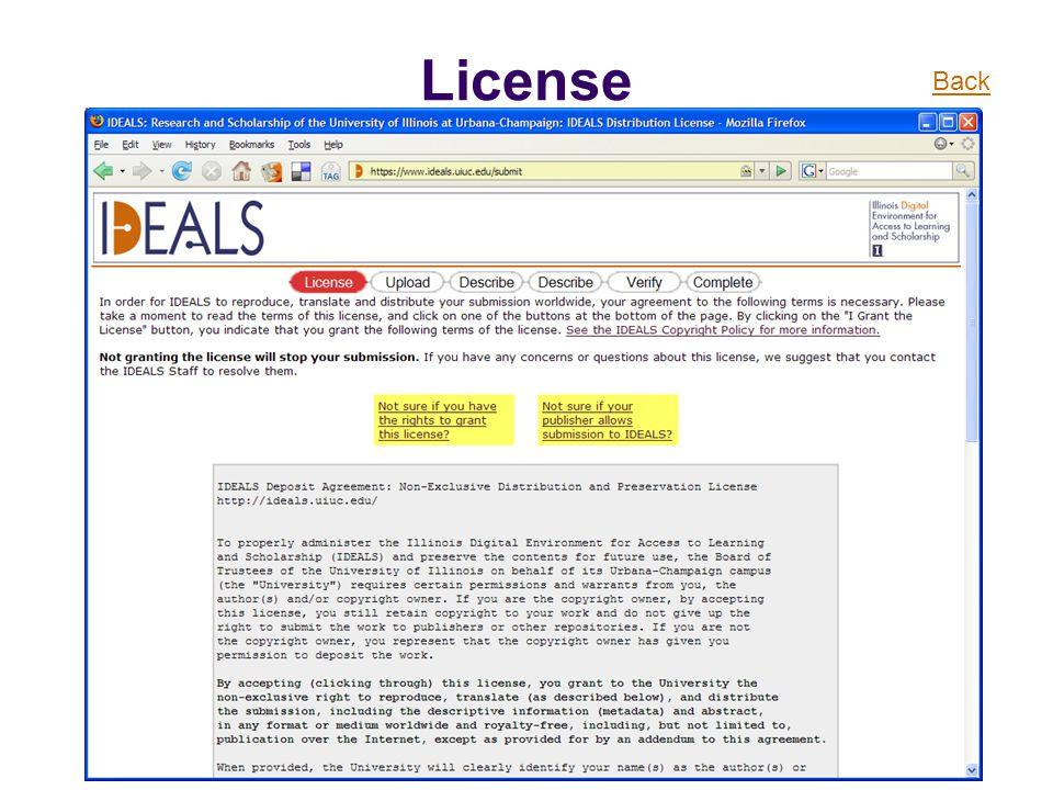 License Back