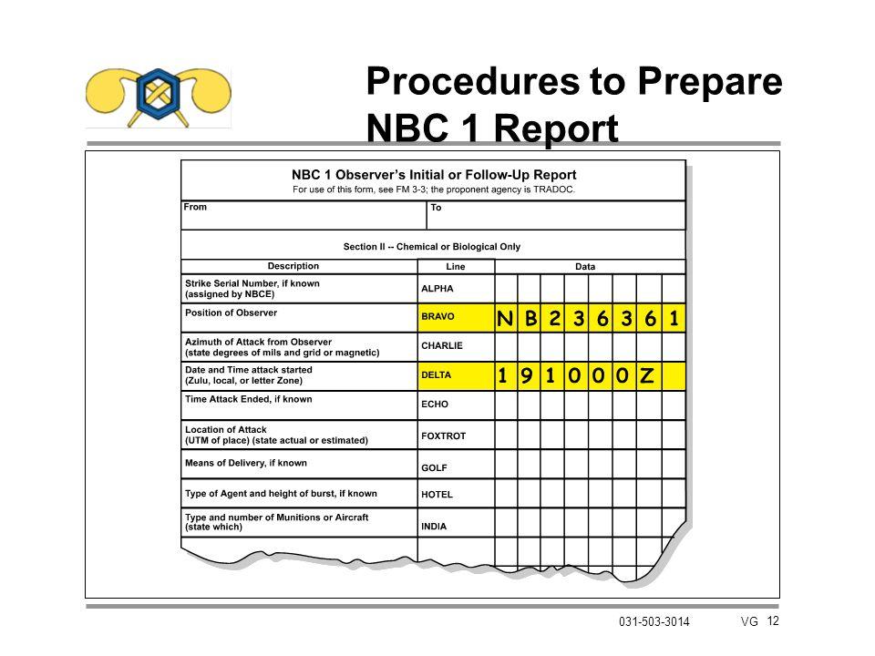 12 031-503-3014 VG Procedures to Prepare NBC 1 Report