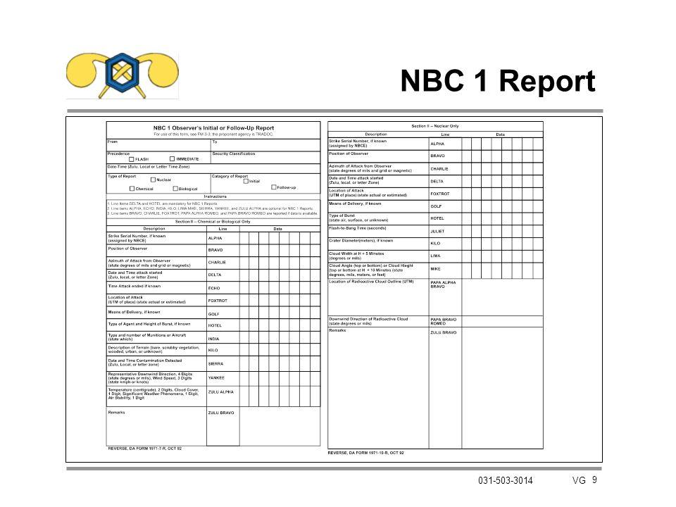 9 031-503-3014 VG NBC 1 Report