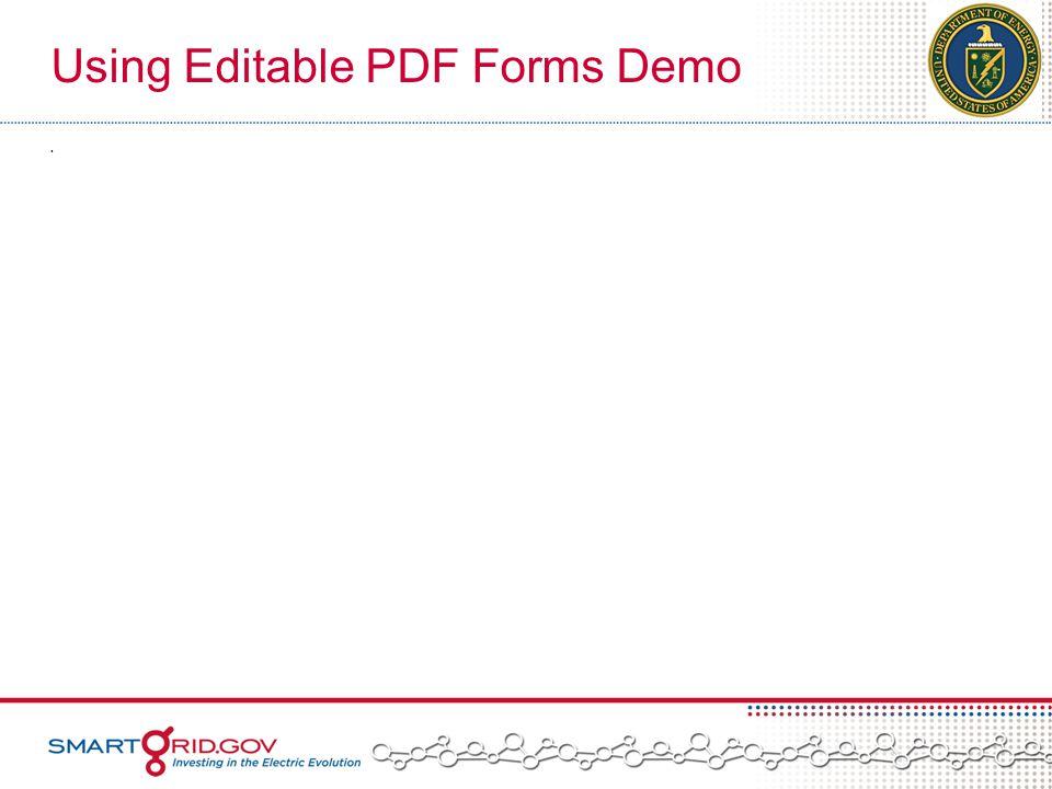 Using Editable PDF Forms Demo.