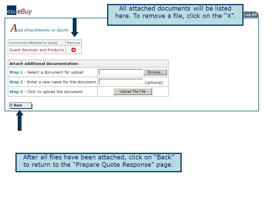 Check the Attached Documents area to verify the files have been successfully uploaded.