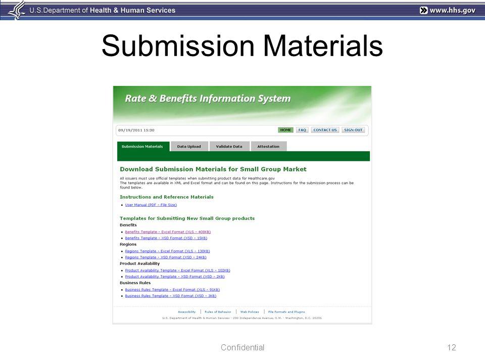 Submission Materials 12Confidential