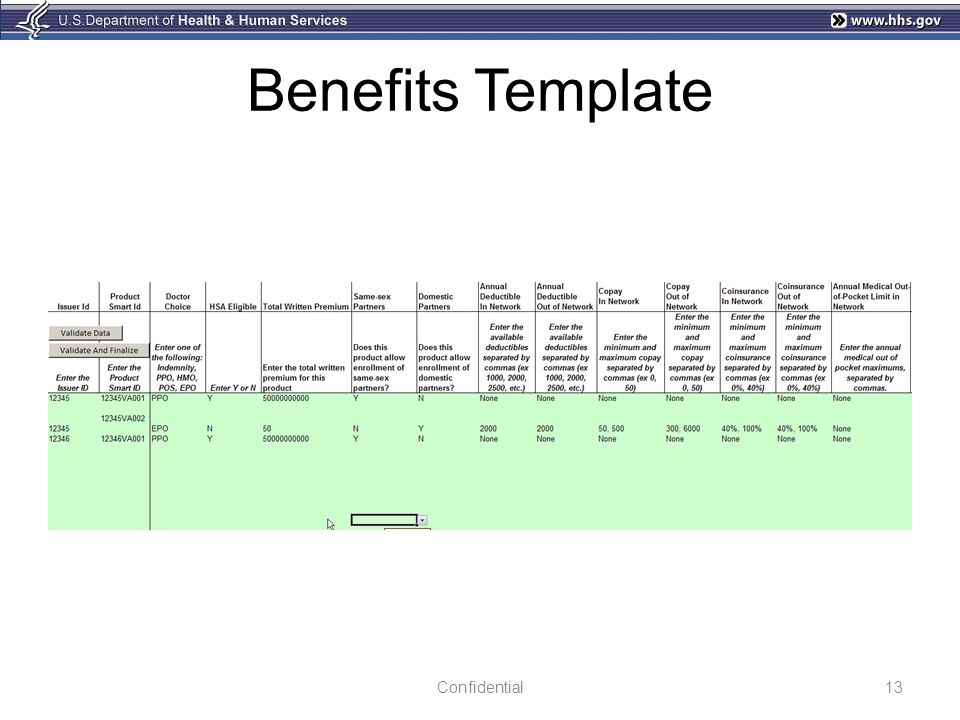 Benefits Template 13Confidential