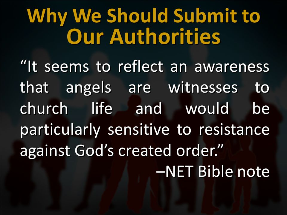 1 Corinthians HARD PART God commands us to submit to authorities.