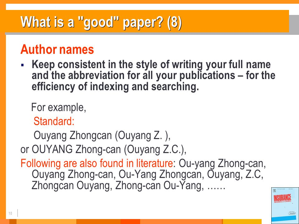 18 What is a good paper.