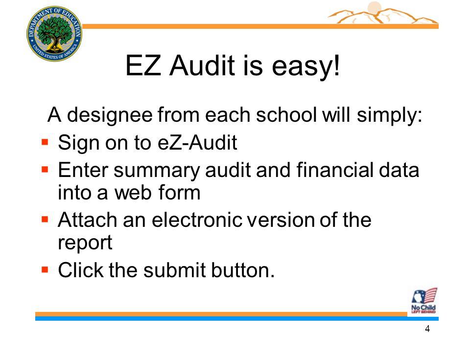5 Why eZ-Audit.