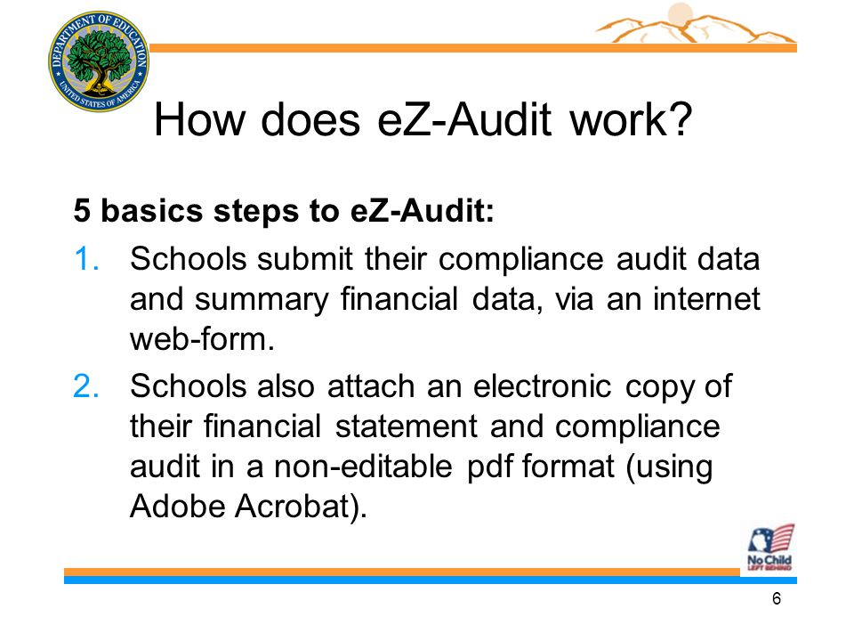 17 School User Roles (2) n Institution/School Administrator n Registers the school with eZ-Audit n Provides/manages access to data entry and submission approval personnel, as identified by the school n Maintains security information regarding school users as required