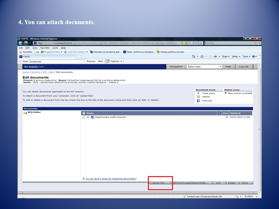 4. You can attach documents.