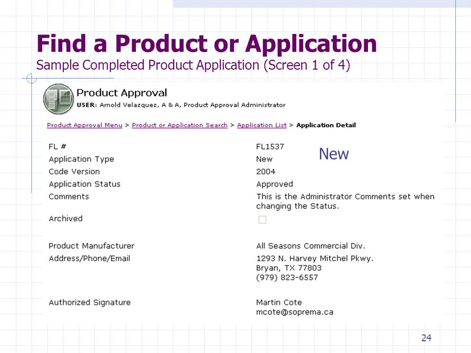 23 Find a Product or Application Enter 1537 New
