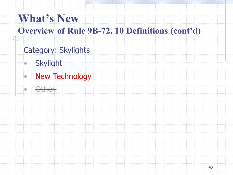 41 What's New Overview of Rule 9B-72.