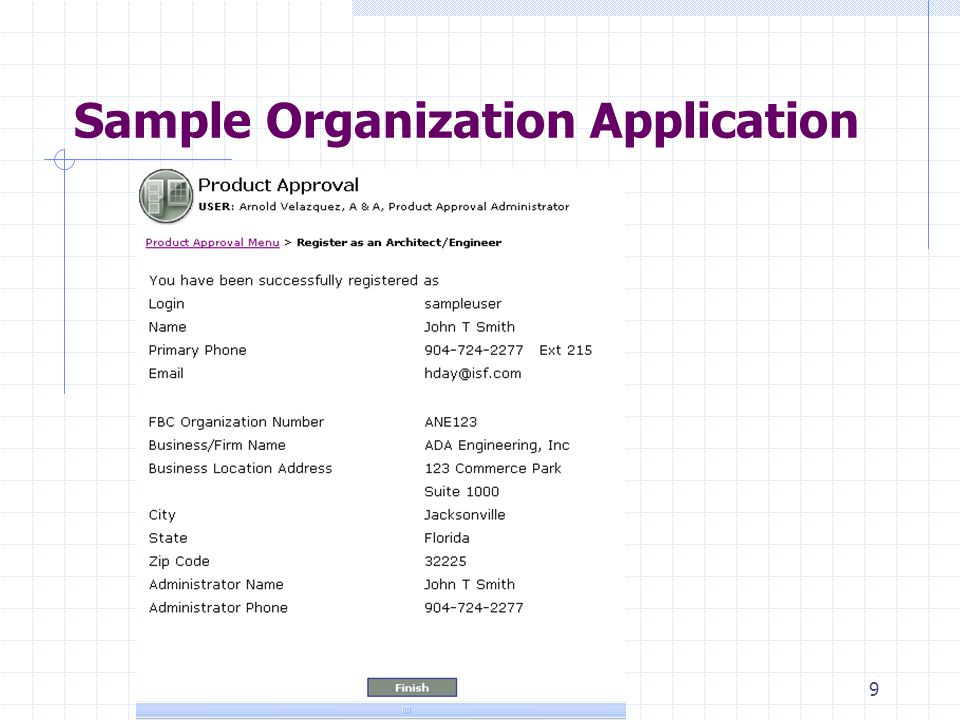 8 Submit an Organization Application New 9B-72.090/.095