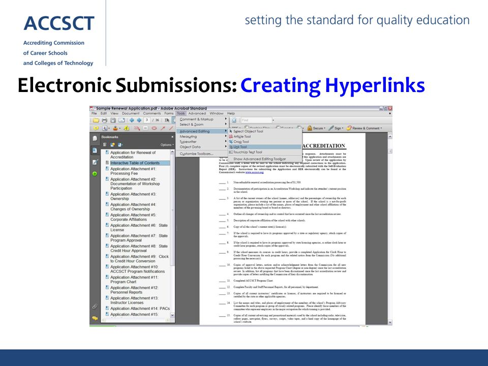 Electronic Submissions: Creating Hyperlinks