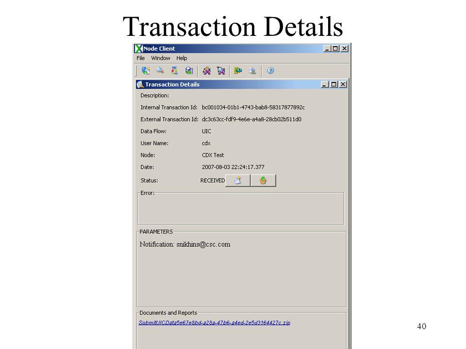 Transaction Details 40