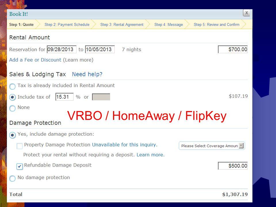 VRBO / HomeAway / FlipKey