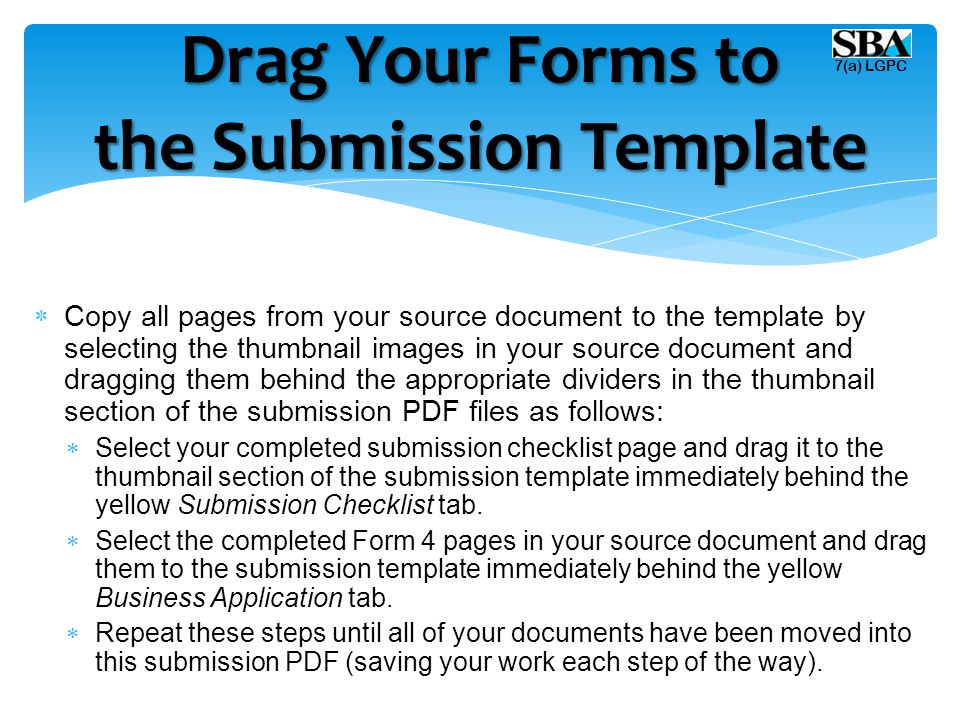  Copy all pages from your source document to the template by selecting the thumbnail images in your source document and dragging them behind the appr