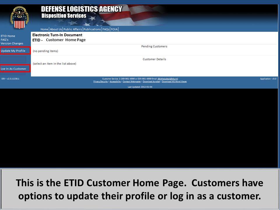 ETID has a scrap module.Drop down choices assist customer in completing the scrap turn ETID.