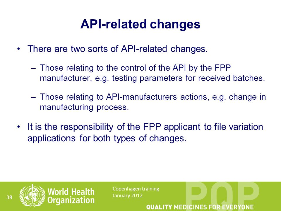 API-related changes There are two sorts of API-related changes.