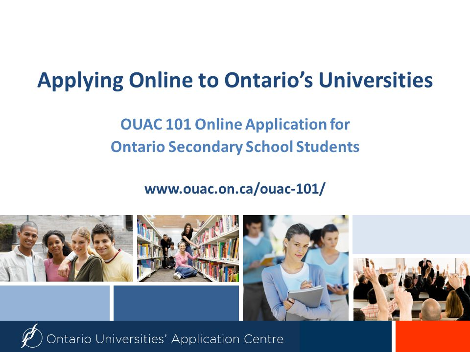 Step 1: Your OUAC Access Codes Your guidance counsellor will give you a confidential letter containing your access codes:  PIN (Personal ID#)  School Number  Student Number These numbers will allow you to access your OUAC 101 Online Application.