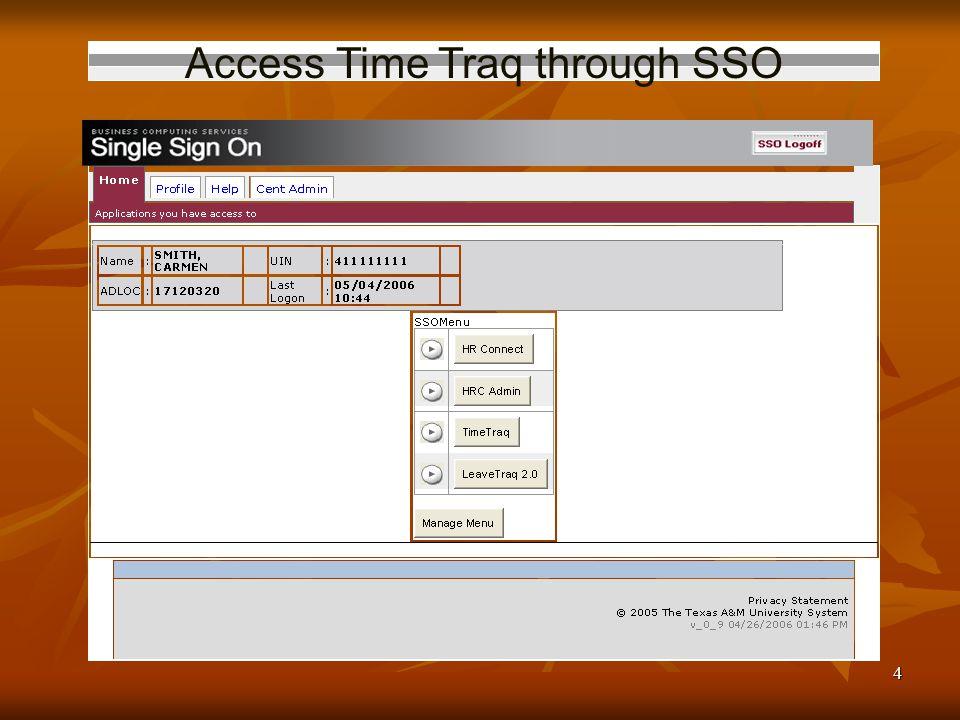 4 Access Time Traq through SSO