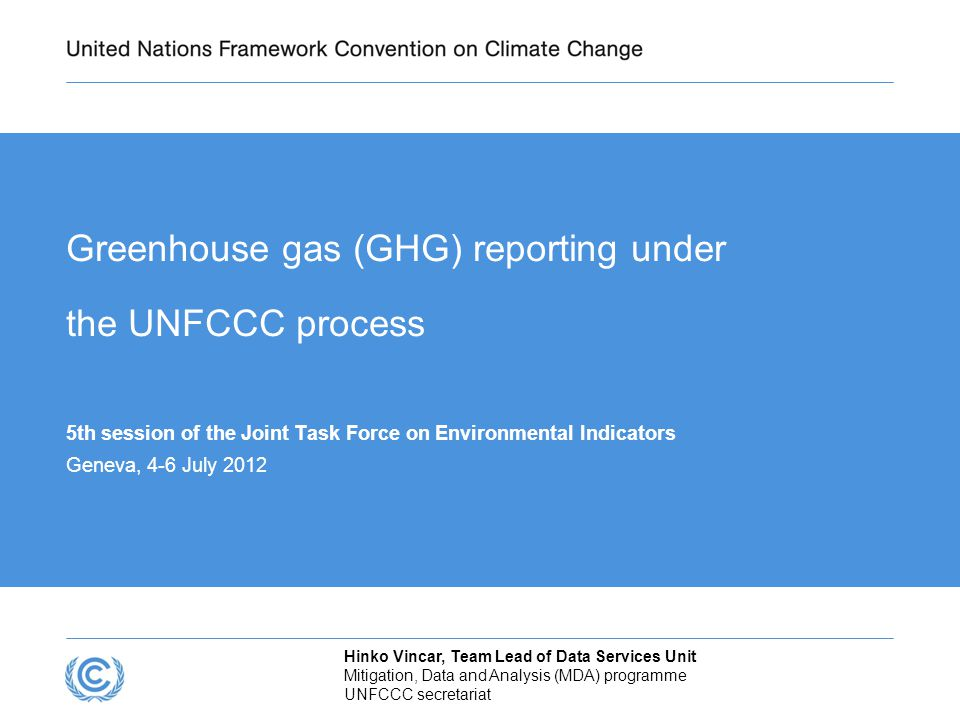 INTRODUCTION The ultimate objective of the Climate Change Convention (UNFCCC) is to achieve stabilization of GHG concentrations that would prevent dangerous anthropogenic interference with the climate system.