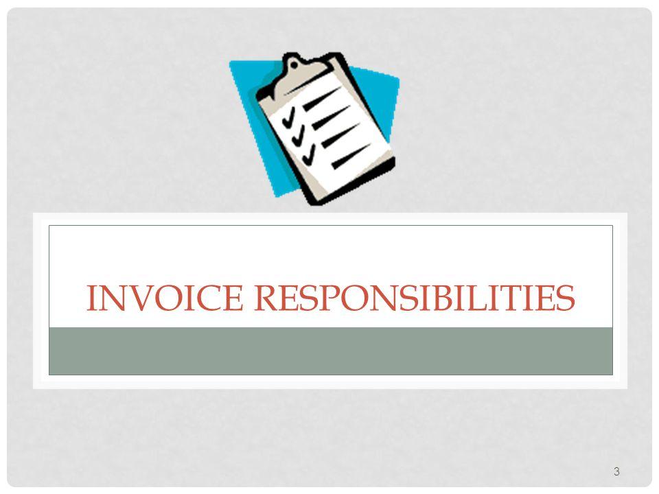 INVOICE RESPONSIBILITIES 3