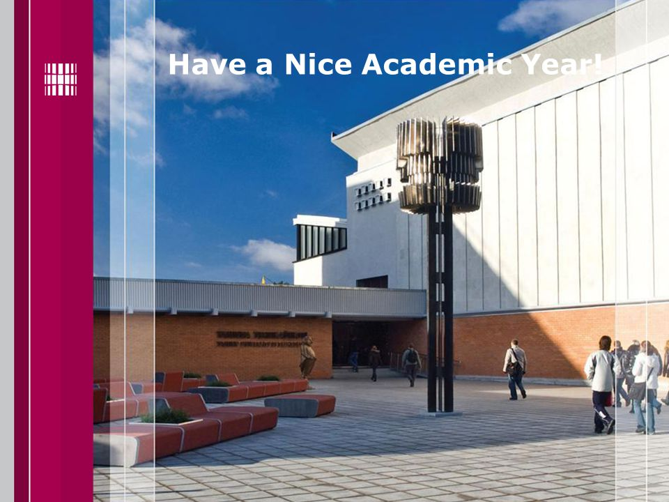 Have a Nice Academic Year!