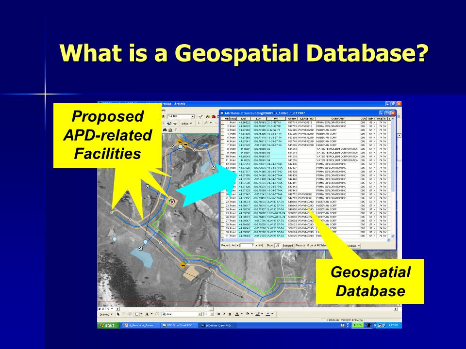 What is a Geospatial Database.
