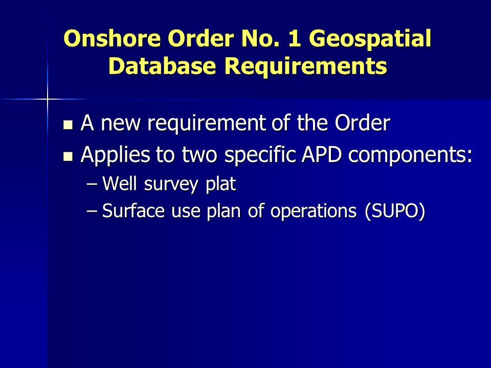 Onshore Order No.