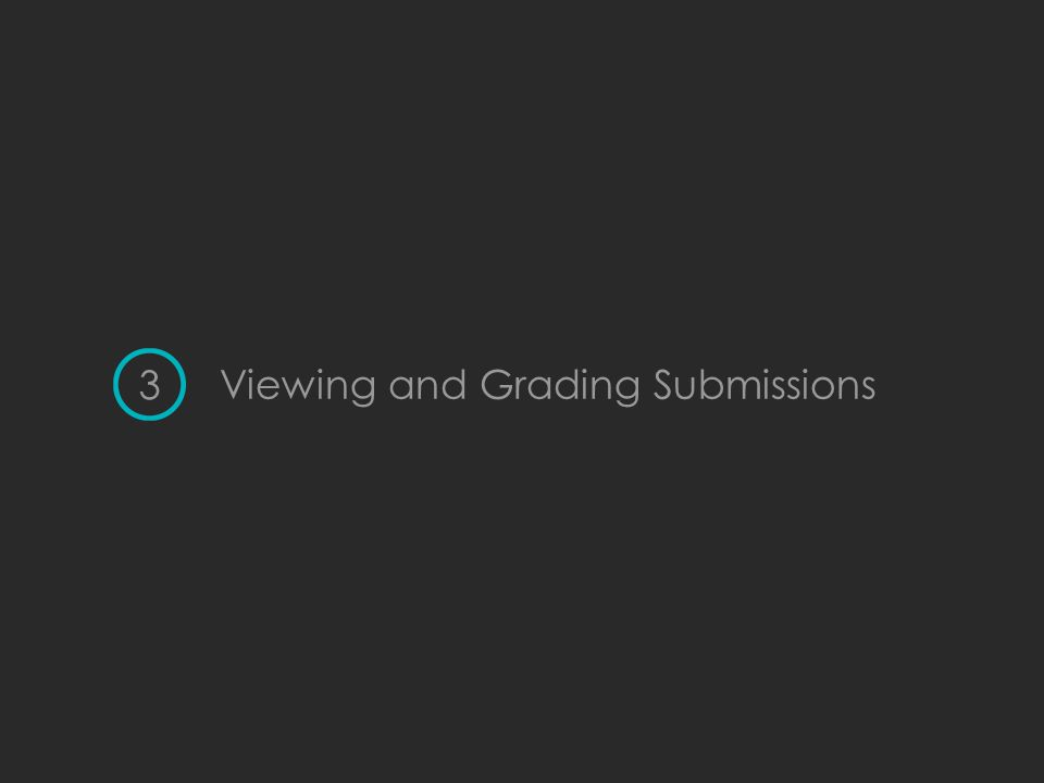 Viewing and Grading Submissions 3