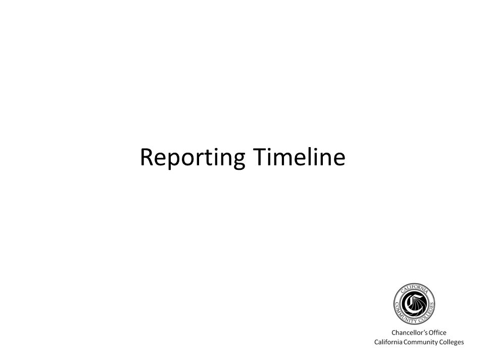 Reporting Timeline