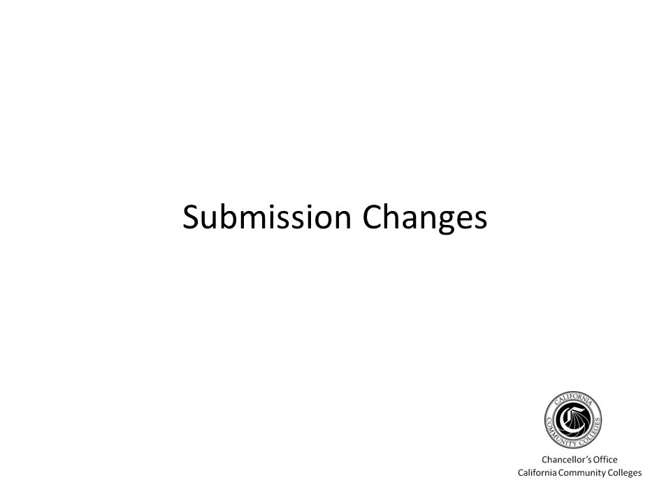 Submission Changes