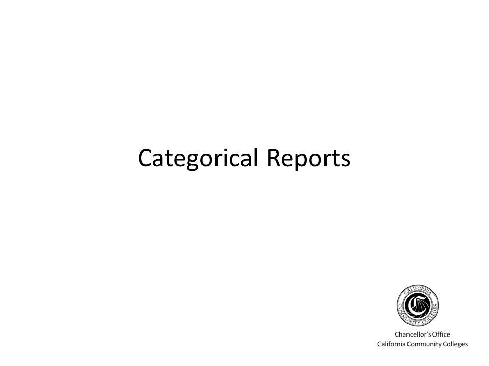 Categorical Reports