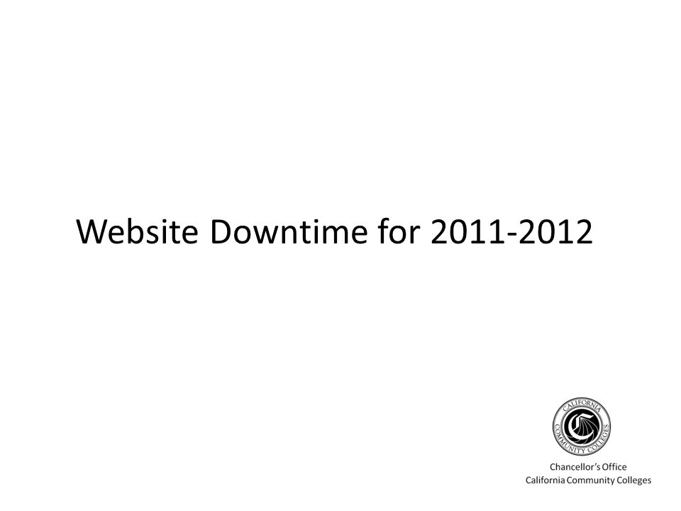 Website Downtime for 2011-2012