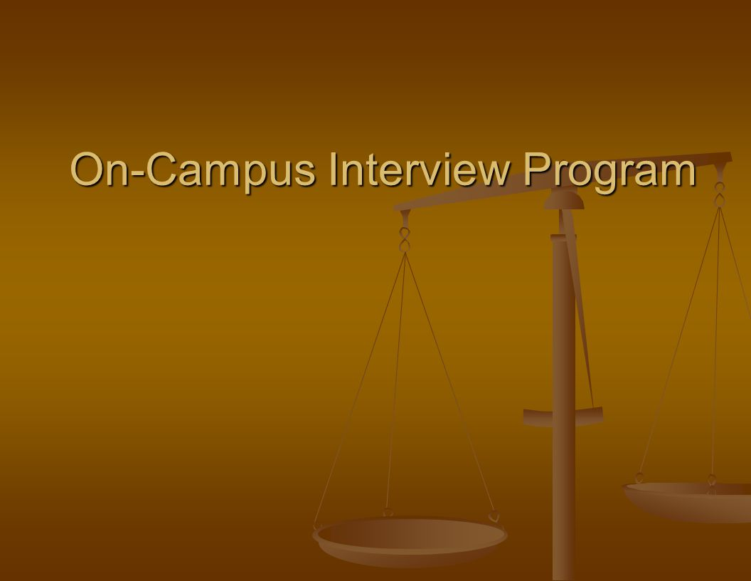 On-Campus Interview Program