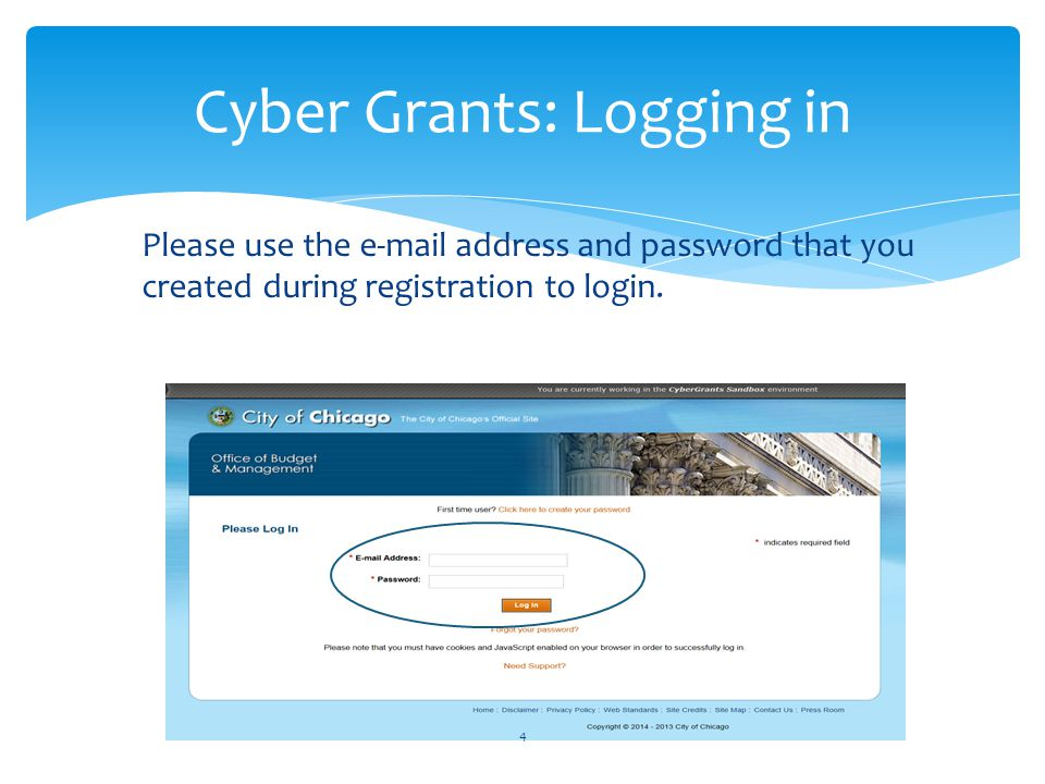 Cyber Grants does not require you to begin and complete your application in a single-sitting.
