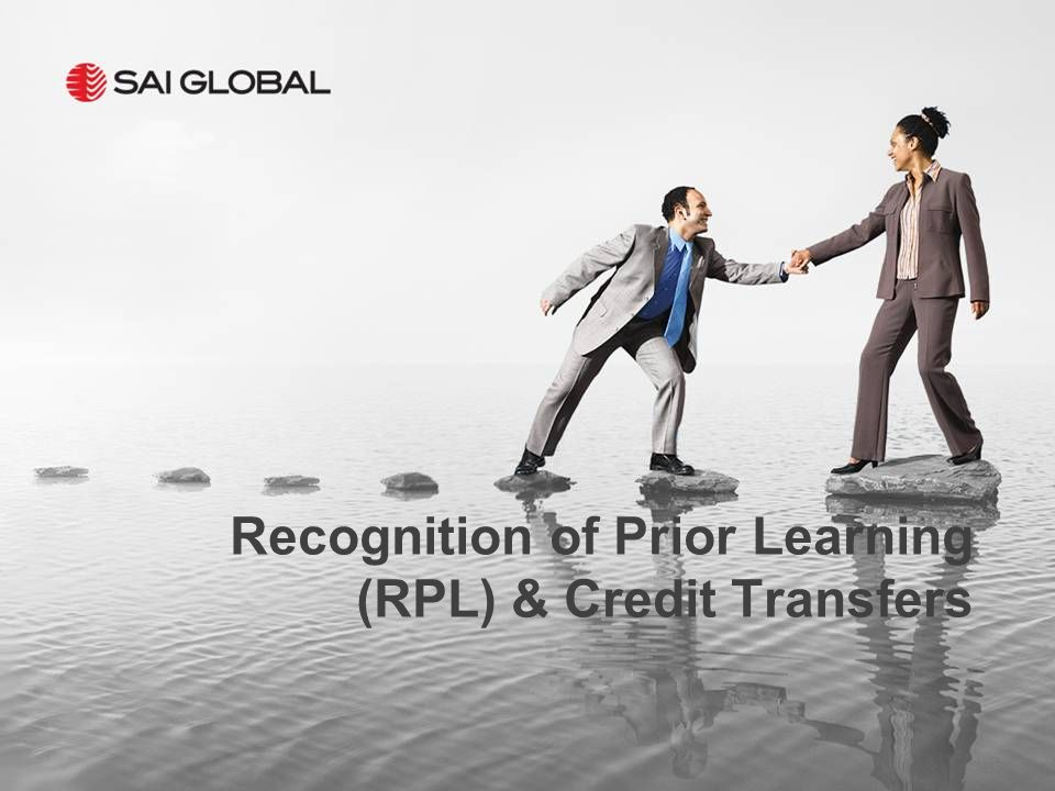 Recognition of Prior Learning (RPL) & Credit Transfers