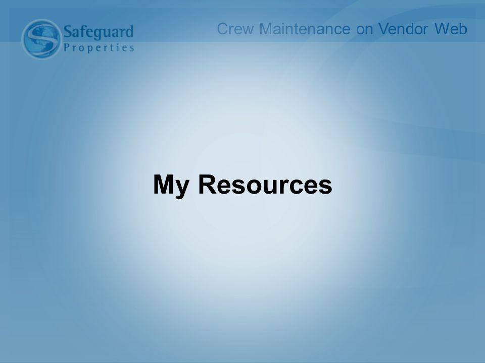 My Resources