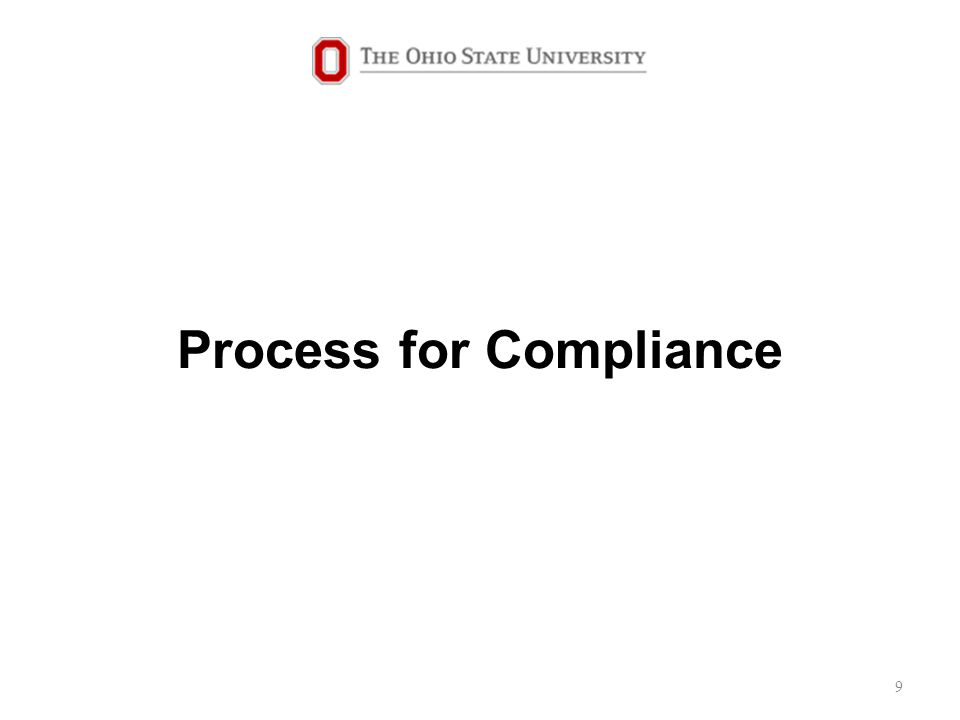 Process for Compliance 9