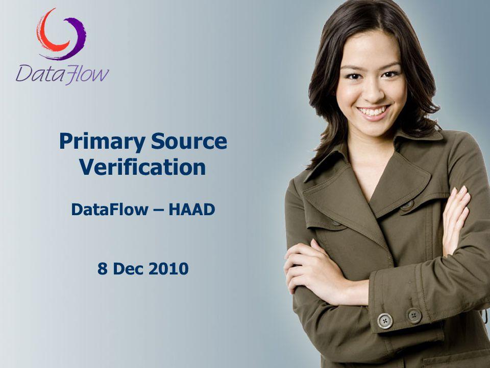 Primary Source Verification DataFlow – HAAD 8 Dec 2010